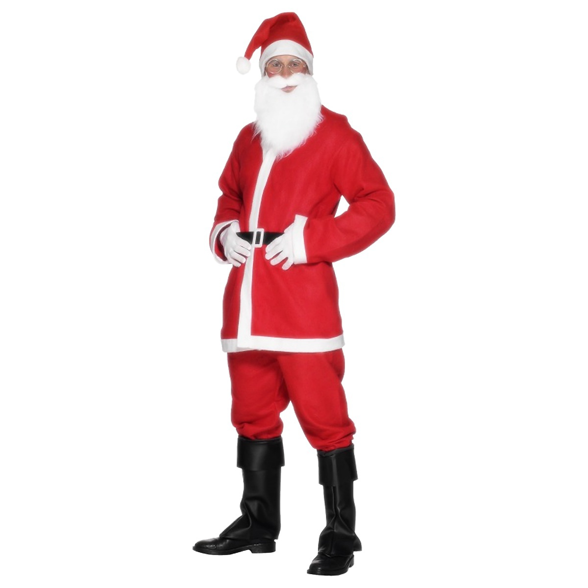 Smiffys Economy Santa Suit Costume Adult Cheap Claus Flannel Christmas Fancy Dress at Sears.com