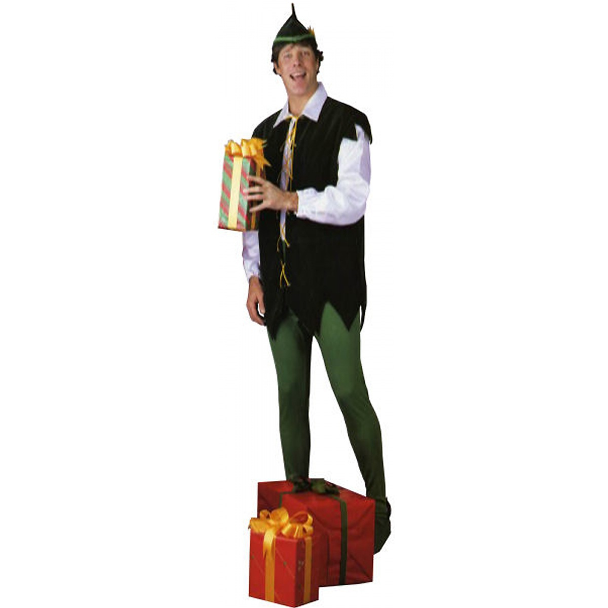 Rubie's Costume Co Santa's Helper Adult Mens Claus's Elf Toy Shop Worker Christmas Costume at Sears.com