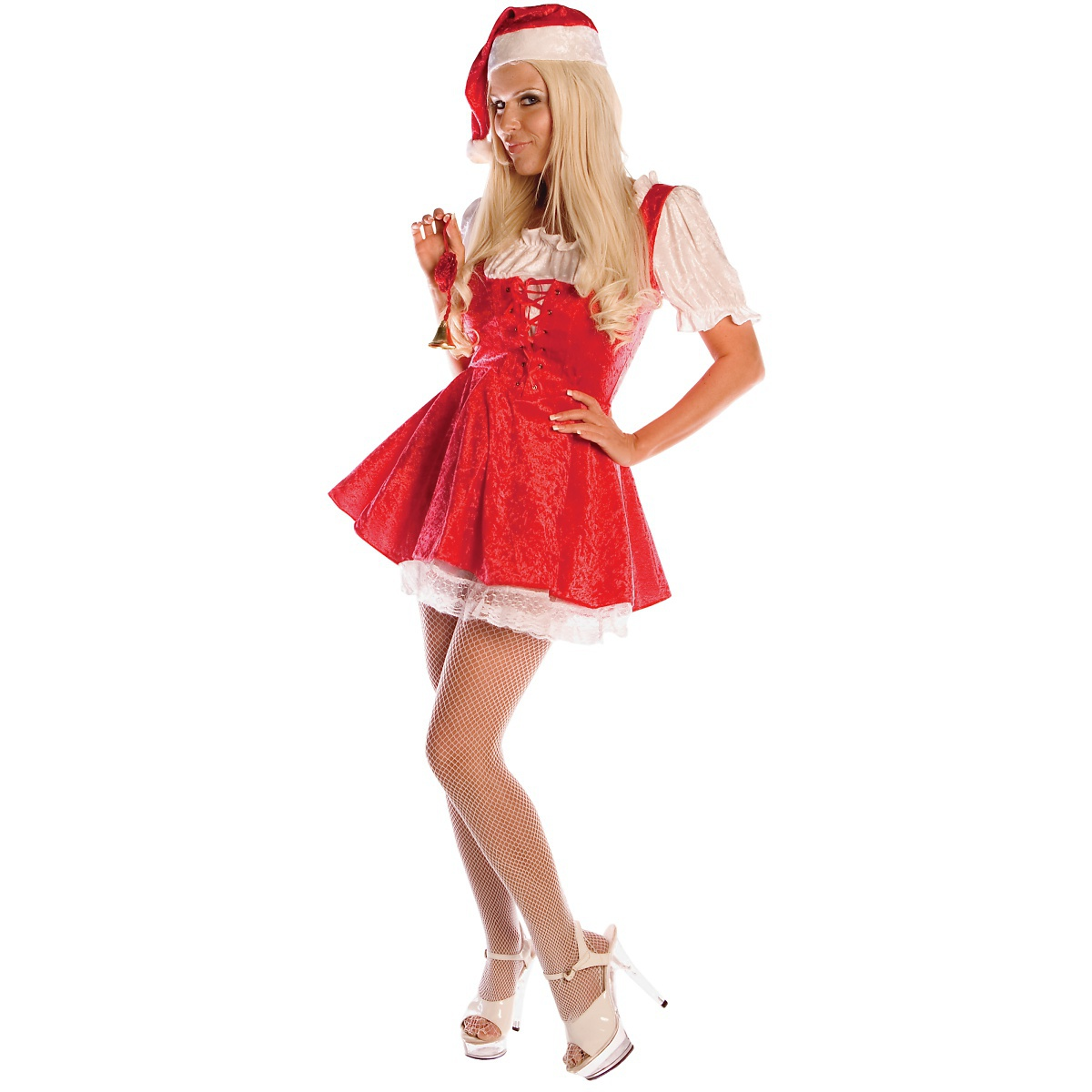 UNDERWRAPS Santa Baby Costume Adult Miss Ms Mrs Claus Cute Mini Christmas Fancy Dress at Sears.com