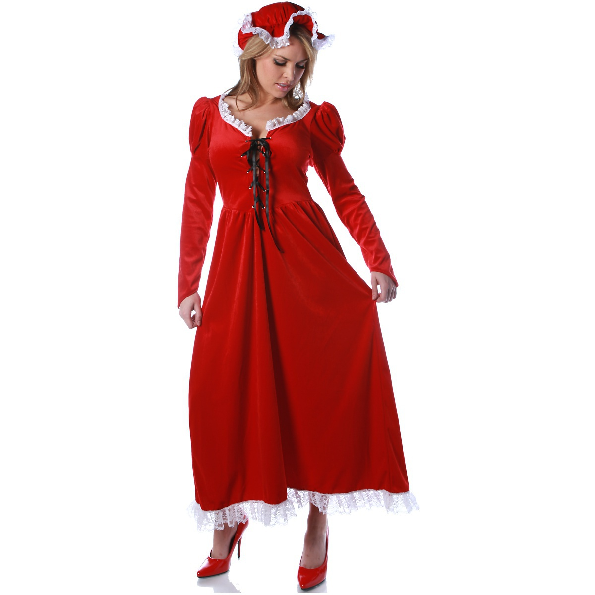 UNDERWRAPS The Mrs Claus Costume Adult Santa's Sweetie Christmas Long Red Fancy Dress at Sears.com