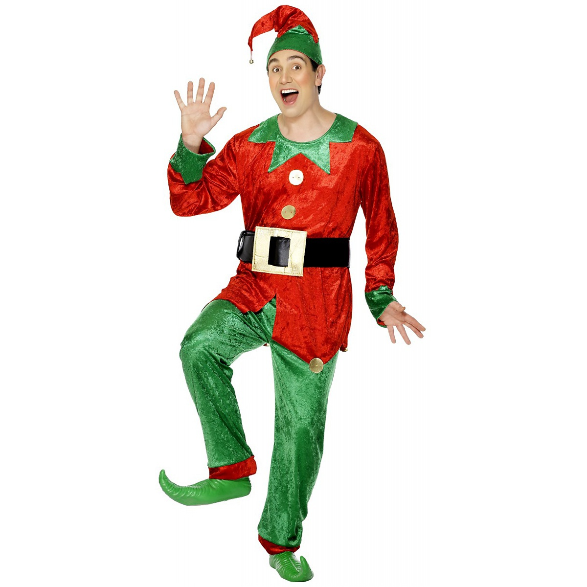 Smiffys Elf Adult Mens Santa Claus Helper Fancy Dress Christmas Costume at Sears.com