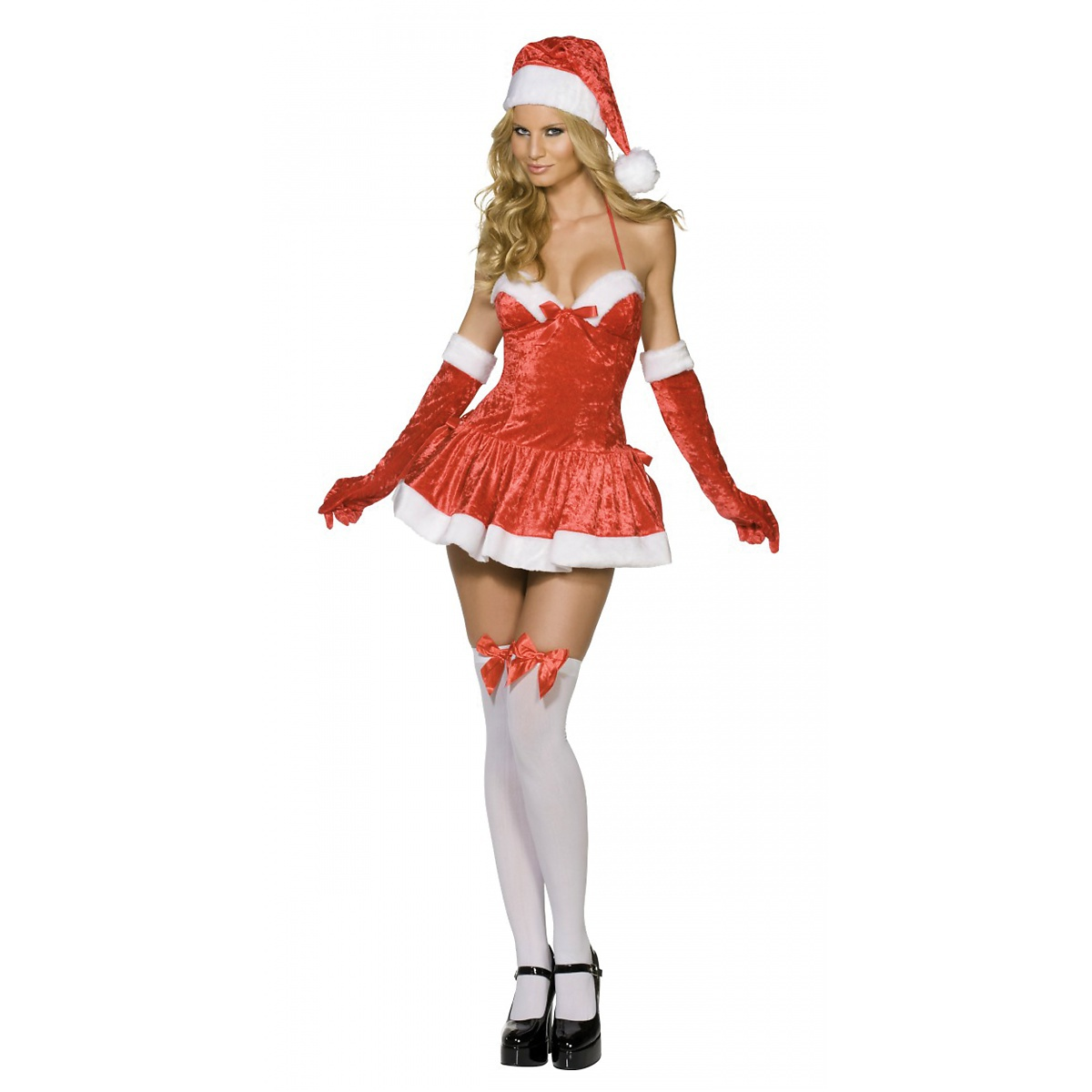 Smiffys Naughty Miss Santa Adult Sexy Ms Mrs Claus Baby Christmas Fancy Dress Costume at Sears.com