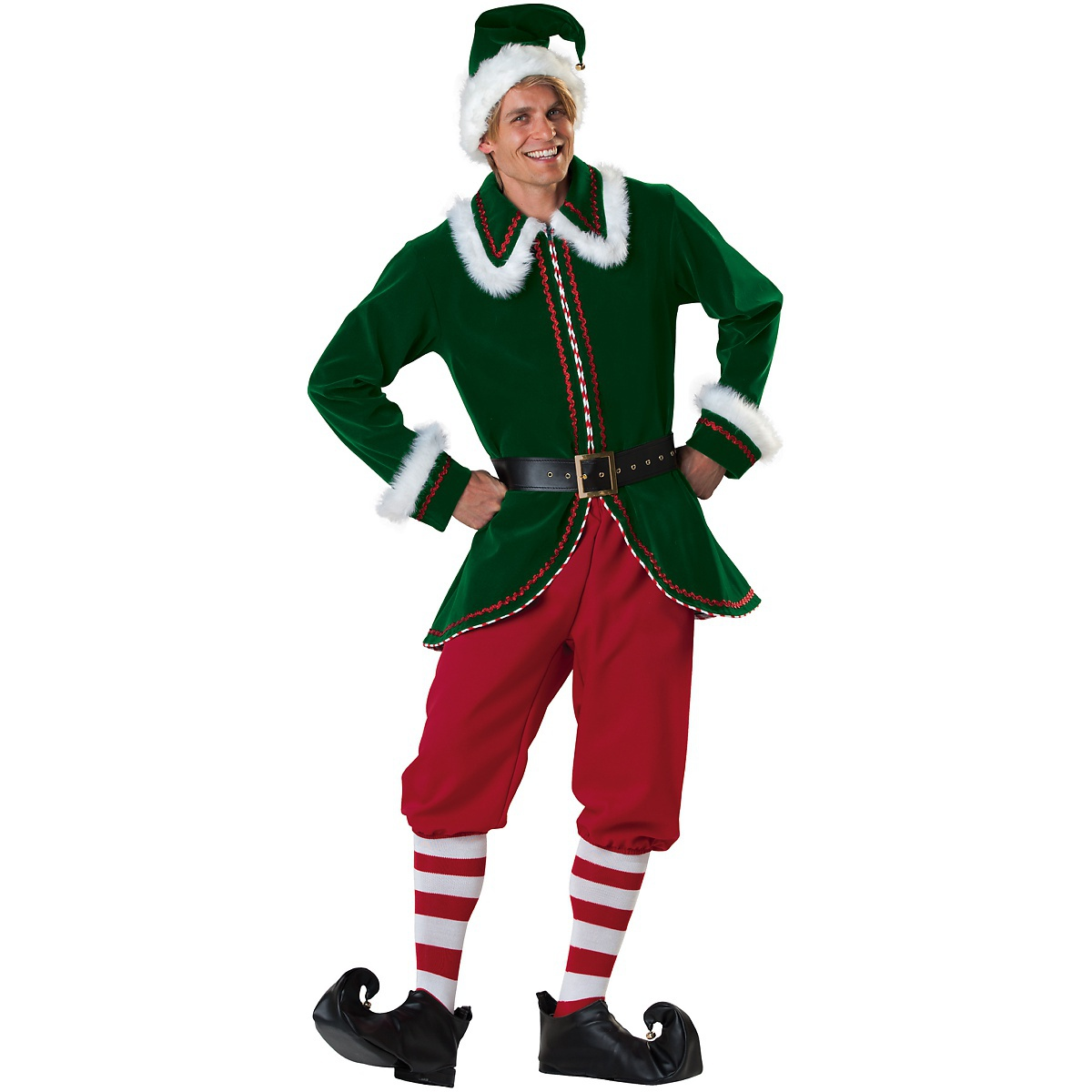 InCharacter Santa's Elf Adult Mens Claus's Helper Buddy Christmas Costume at Sears.com