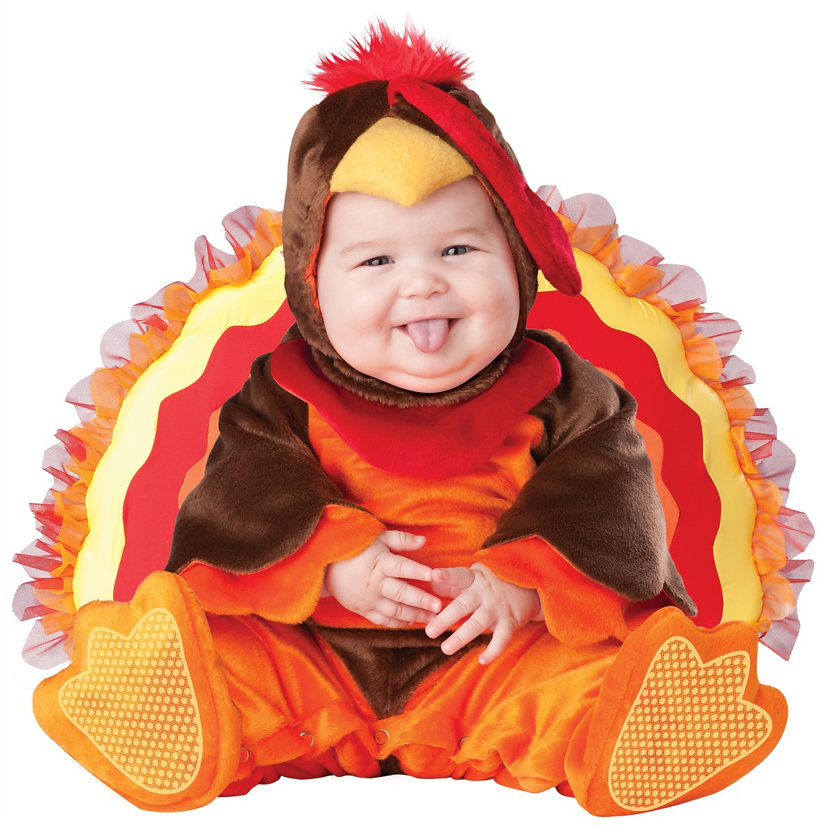 InCharacter Lil Gobbler Baby Infant Toddler Turkey High Quality Deluxe Thanksgiving Costume