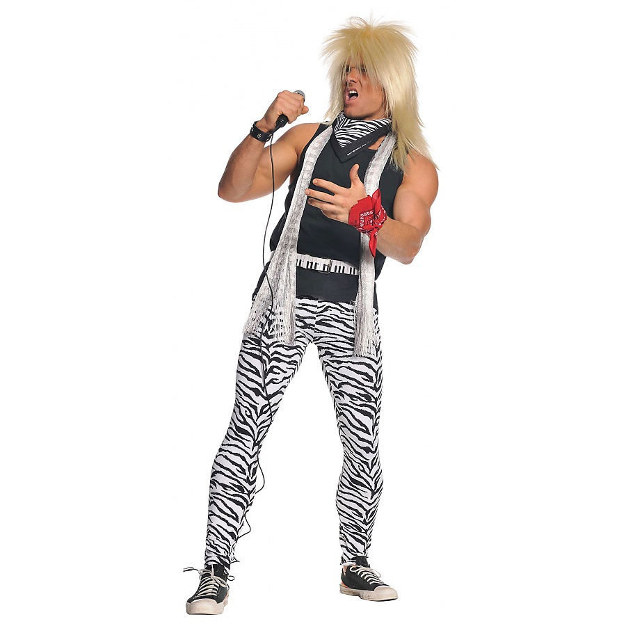 ... Heavy Metal Glam Rock Star Halloween Costume Std Plus Sizes  eBay